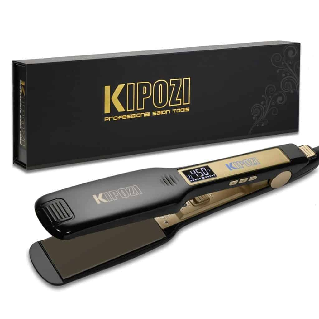 KIPOZI professional titanium hair straightener review 2