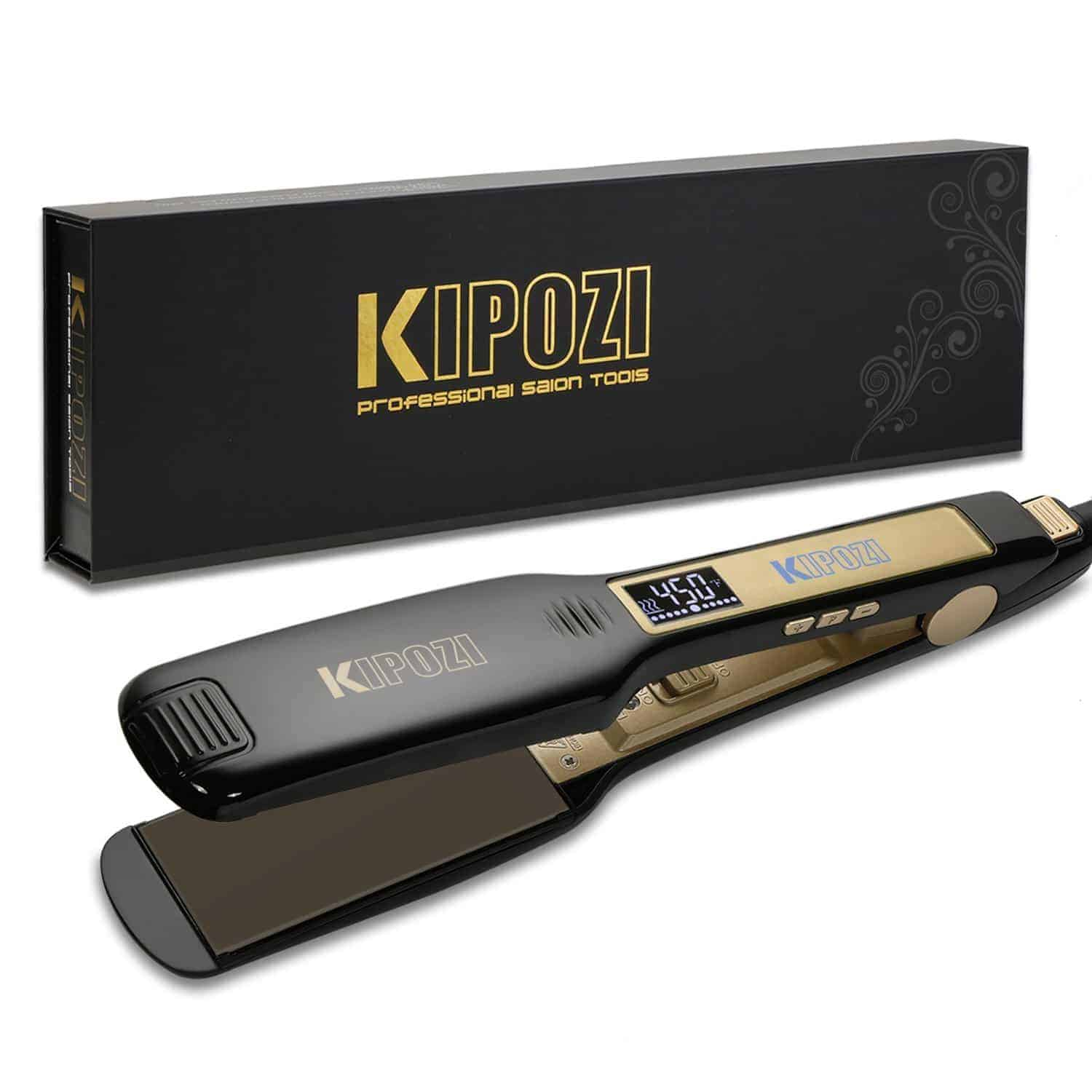 KIPOZI professional titanium hair straightener review 1